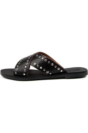 SOL SANA Kimber Slide Ss Reptile Sandals Womens Shoes Casual Sandals Flat Sandals