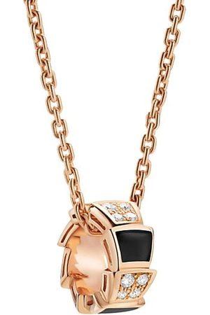Bvlgari Necklaces - Serpenti Viper 18K , Diamond & Onyx Pendant Necklace