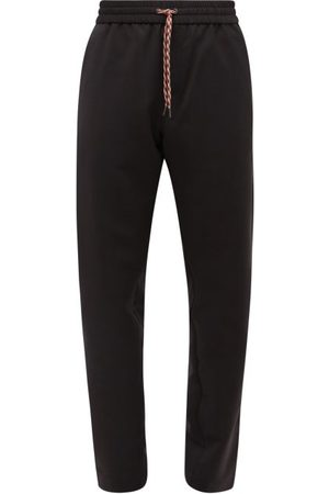 Burberry Side-striped Mohair-blend Track Pants - Mens
