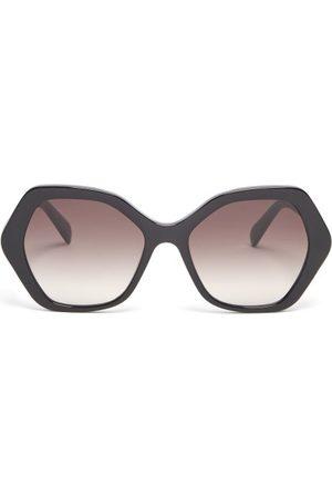 Céline Women Sunglasses - Angular-round Acetate Sunglasses - Womens