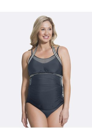 Cake Maternity Chinotto Fuller Maternity Tankini Set (for D G Cups) - One-Piece / Swimsuit Chinotto Fuller Maternity Tankini Set (for D-G Cups)
