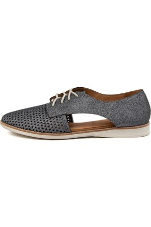 Rollie Sidecut Punch Xx Rl Charcoal Glitter Shoes Womens Shoes Casual Flat Shoes