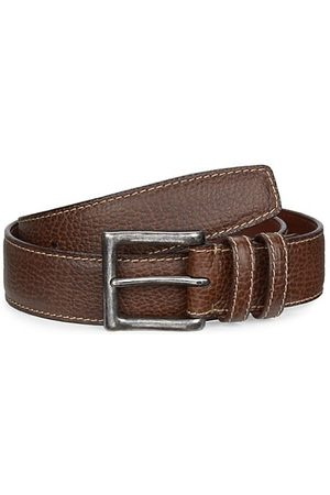 Saks Fifth Avenue COLLECTION Saddle Stitch Leather Belt