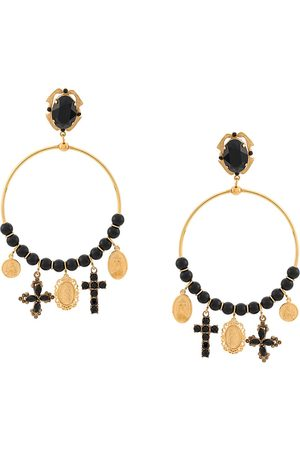 Dolce & Gabbana Drop pendant hoop earrings