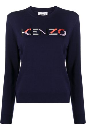 Kenzo Women Sweaters - Embroidered logo crew neck jumper