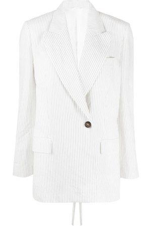 Brunello Cucinelli Women Blazers - Pinstripe peak-lapel blazer