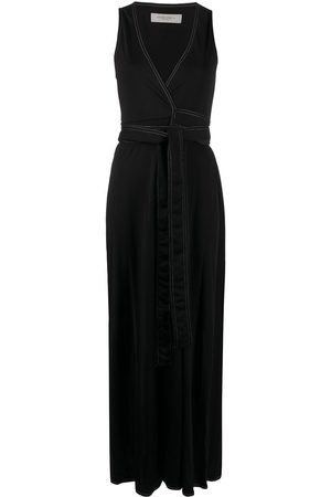 Golden Goose Women Dresses - Contrast stitching tied waist dress