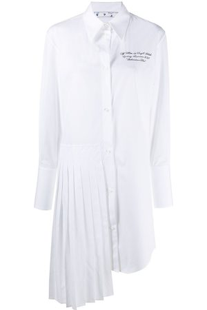 OFF-WHITE Embroidered logo shirt dress