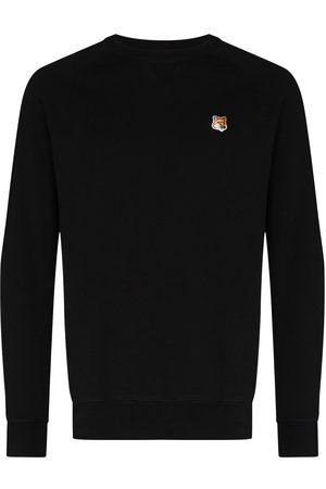 Maison Kitsuné Fox-patch cotton sweatshirt
