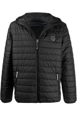 Philipp Plein Quilted hooded jacket