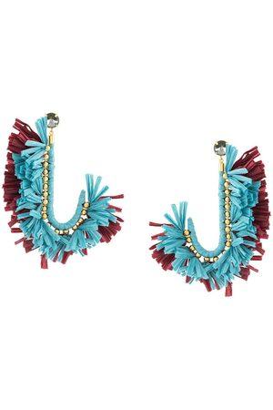 La DoubleJ J fringed drop earrings
