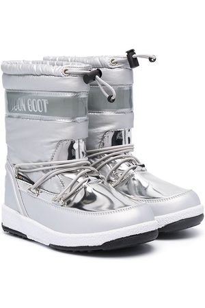 Moon Boot Wellingtons - Metallic snow lace-up boots