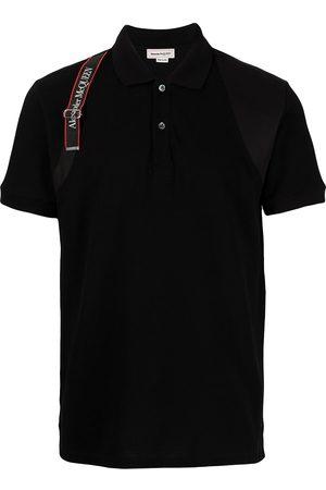 Alexander McQueen Men Polo Shirts - Logo tape polo shirt