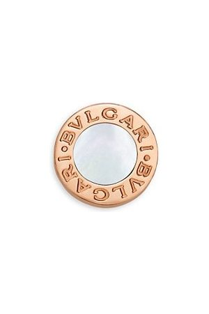 Bvlgari Classic 18K & Mother-Of-Pearl Round Single Stud Earring