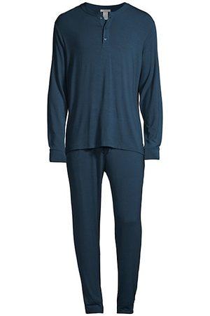 Eberjey Henry 2-Piece Henley Pajama Set