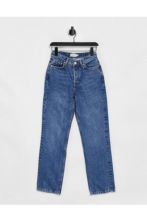 & OTHER STORIES & Keeper organic cotton straight cropped jeans in krepart blue