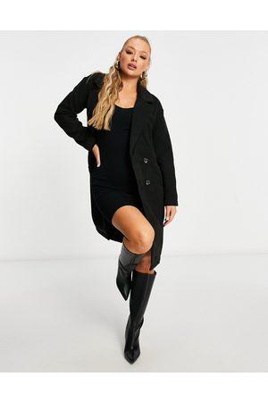Threadbare Overcoat in black
