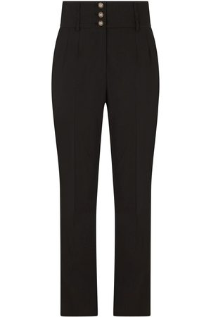 Dolce & Gabbana High-waisted side-stripe trousers