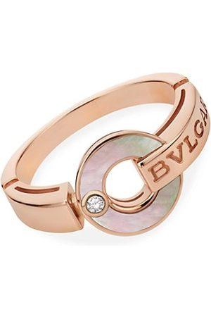 Bvlgari Essential 18K , Mother-of-Pearl & Diamond Ring
