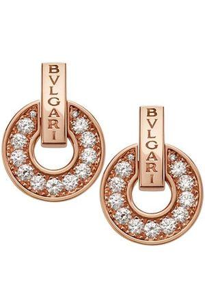 Bvlgari Essential 18K & Diamond Openwork Earrings
