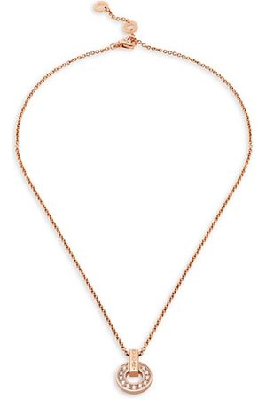 Bvlgari Necklaces - Essential 18K & Diamond Openwork Pendant Necklace