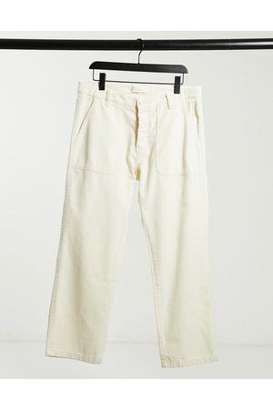 Knowledge Cotton Apparal Organic chinos in cream