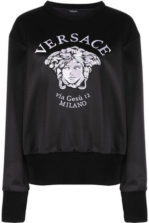 VERSACE Embroidered Medusa logo sweatshirt