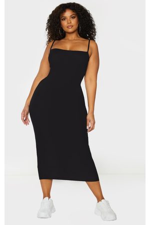 PRETTYLITTLETHING Plus Strappy Jersey Maxi Dress