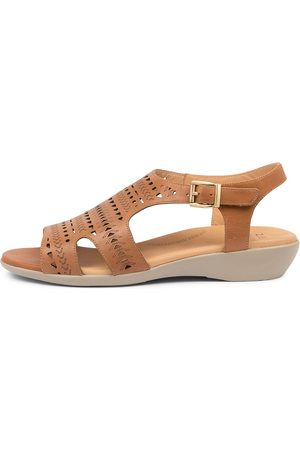 Ziera Women Flat Shoes - Echo Xw Zr Tan Sandals Womens Shoes Sandals Flat Sandals