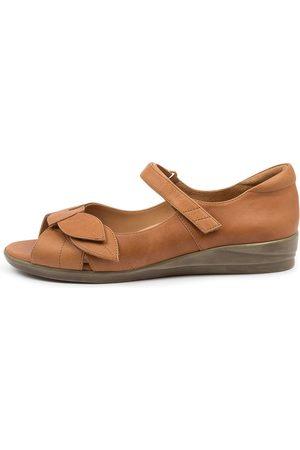Ziera Disco W Zr Tan Sandals Womens Shoes Comfort Sandals Flat Sandals