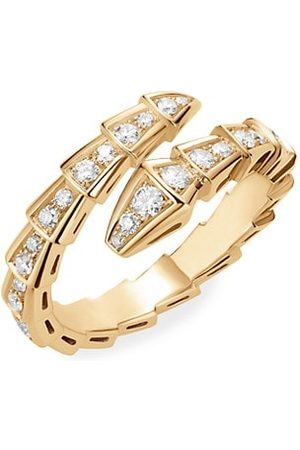 Bvlgari Rings - Serpenti Viper 18K Yellow & Diamond Wrap Ring