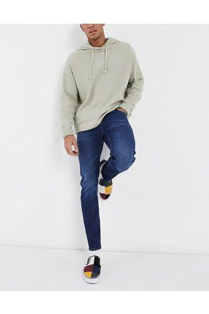 ASOS Stretch slim jeans in dark wash blue