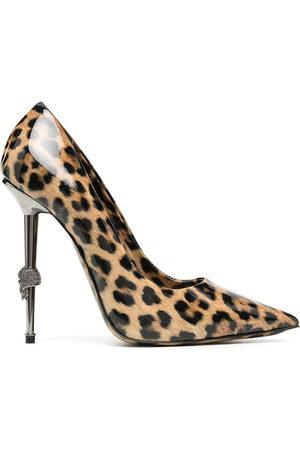 Philipp Plein Leopard print pointed pumps