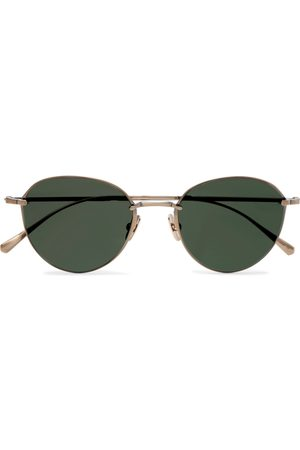 Mr. Leight Mulholland S Round-Frame -Tone Sunglasses