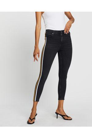 Topshop Side Stripe Jamie Jeans - High-Waisted ( & Stripe) Side Stripe Jamie Jeans