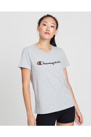 Champion Script SS Tee - T-Shirts & Singlets (Oxford Heather) Script SS Tee