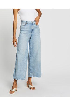 Topshop Wide Leg Jeans - High-Waisted (Bleach) Wide Leg Jeans