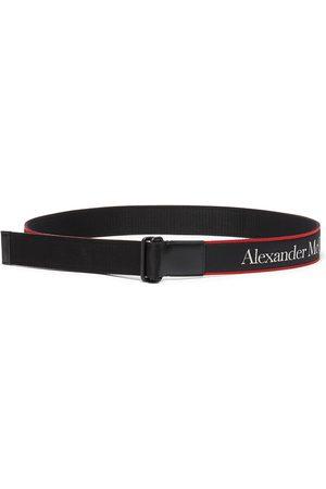 Alexander McQueen Men Belts - Selvedge' Logo Embroidered Nastro Belt
