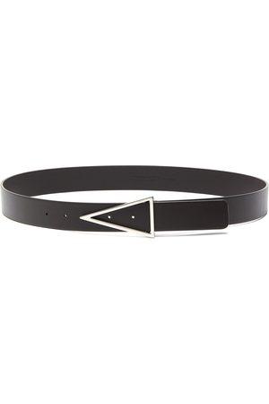 Bottega Veneta Men Belts - Triangle buckle leather belt