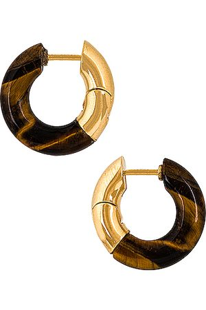 Bottega Veneta Orecchini Earrings in Tiger Eye