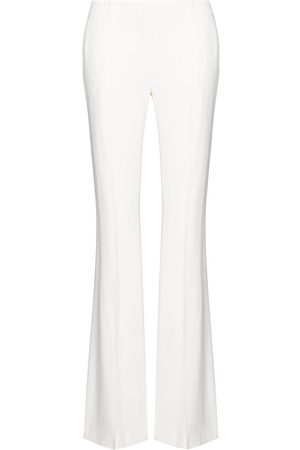 Alexander McQueen Crease detail flared trousers