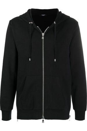 Balmain Men Hoodies - Logo-print zip-up hoodie