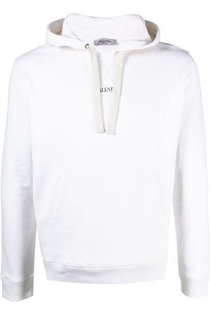 VALENTINO Men Hoodies - Logo-print drawstring hoodie