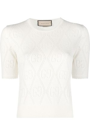 Gucci GG pointelle-knit knitted top