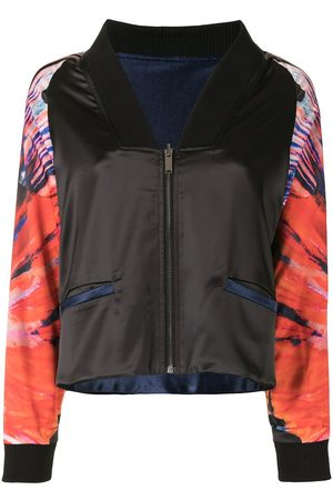 Lisa Von Tang Women Bomber Jackets - Graphic-print zipped bomber jacket