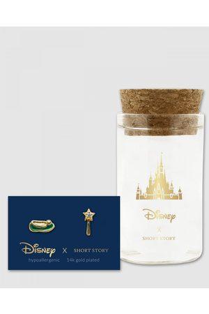 Short Story Disney Earring Tinker Bell Shoe And Wand - Jewellery Disney Earring Tinker Bell Shoe And Wand