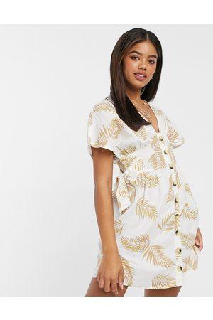 Anmol Amnol button-through beach dress-Multi