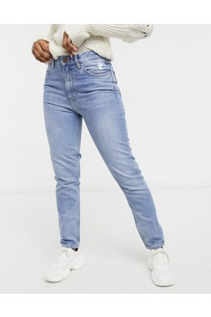 MiH Jeans MiH Mimi high-rise straight leg jeans in midwash blue denim