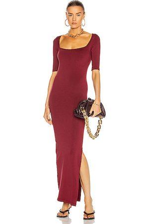 SIMON MILLER Women Maxi Dresses - Mies Square Neck Dress in Burgundy