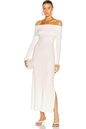 SIMON MILLER Women Evening Dresses - Espen Fold Over Dress in Macadamia